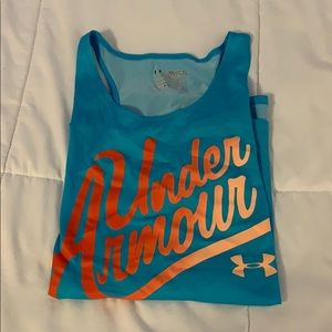 Blue under armour tank top youth XL!